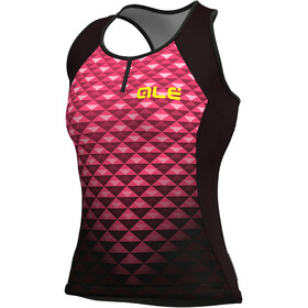 Alé Cycling Solid Hexa Tank Top Women black flou pink